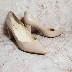 Ivanka Trump Shoes - Ivanka Trump nude natural block heel pump 8.5